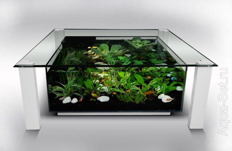Стол — аквариум. Идеи. Обсуждение. Фото.